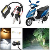 Capeshoppers 6000k Hid Xenon Kit For TVS Scooty