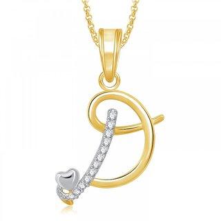 Meenaz heart d alphabet pendant for girls women with chain valentine meenaz heart d alphabet pendant for girls women with chain valentine gifts ps aloadofball Image collections