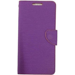 Micromax canvas Spark Q380 Back Synthetic Leather Flip cover Case Purple