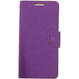 Micromax Xpress2 E313 Back Synthetic Leather Flip cover Case Purple
