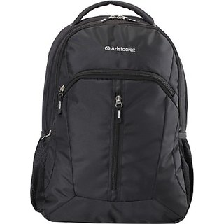 Aristocrat 15 inch Laptop Backpack black in color Padded Compartment