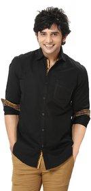 Zorro - Designer - Men Shirt -Mens Smart Casual Shirt -Cotton -Black Color