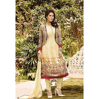 Embroidered Salwar Suit Dupatta Material