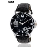 DCH Designer Glass Analog Watch For Men With 1 Year Warranty(Numbered Black)