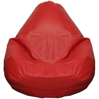 Fat Finger Fabric XXL Bean Bag Cover - (Red, 26 inch x 38 inch)