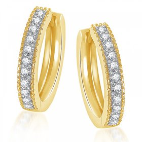 Meenaz Bali Earrings Fancy Party Wear Hoop Earrings Gold Plated Earring B146