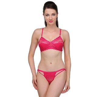 fa9f7c392a Buy Urbaano Mesmerizing Bridal Bra Panty Set - Ur7050S -Pink Online ...