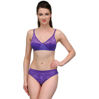 a4f8ed15ee7e8 Urbaano Neon Bridal Bra Panty Set Purple Ur8021S available at ShopClues for  Rs.339
