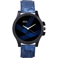 Youth Club Round Dial Black  Yellow Rubber Strap Men Automatic Watch for Men