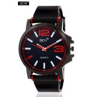 DCH Black Case Analog Watch For Men With 12 Months Warranty