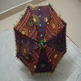 Rajasthani embroidery umbrella for kids