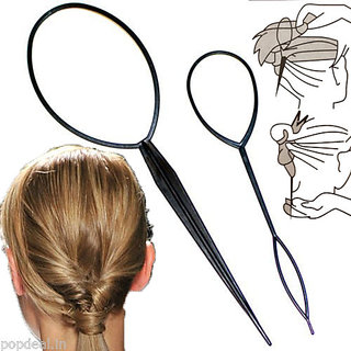 New Topsy Tail Hair Braid Pony Style Maker Styling Plastic Tool Curl DIY
