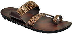 Mens Brown Open Ethnic Shoes