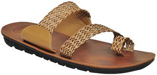 Stylos Mens Brown Slip On Ehnic Shoe