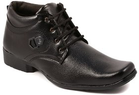 Stylos Mens Black Lace-Up Boot