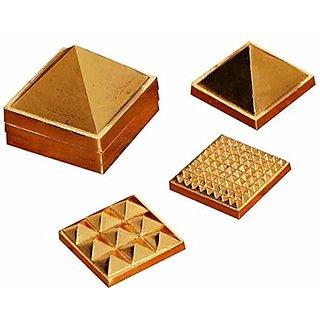 Vastu Nano Brass Pyramid 1