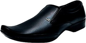 Stylos Mens Black Formal Shoes