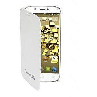 Snaptic Flip Cover For Micromax Canvas Gold A300  White