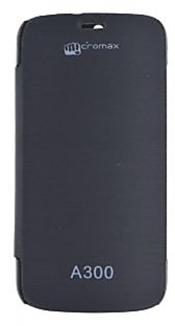 cheap for discount 0426c ee973 Buy Snaptic Flip Cover for Micromax Canvas Gold A300 Black Online ...