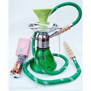 MYA Petite Hookah with Flavour Tong  Charcoal pack by Az Retails