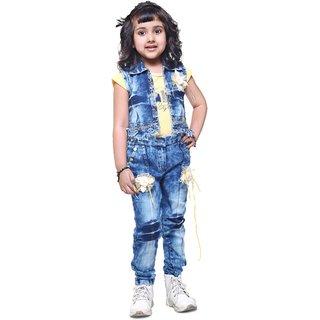 54788815c00870 Buy Meia for girls Yellow top   Capri with Jacket Online - Get 65% Off