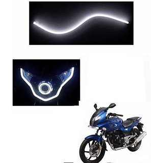 1 x Flexible Audi Style Neon White Tube DRL LIGHT FOR BAJAJ PULSAR 135/150/180cc