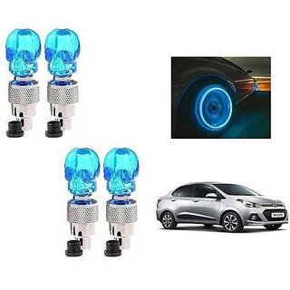Shaped Car Tyre LED With Motion Sensor Blue SET OF 4- Hyundai