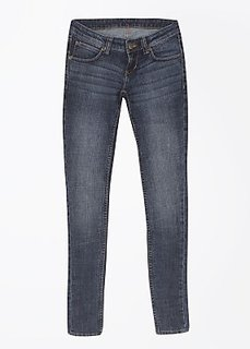 Lee Slim Fit Fit  Cotton Blend Denim Solid Casual Blue Womens Jeans