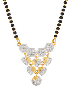 Designer Heart Shape Gold Plated Valentine Special Mangalsutra MS-1301