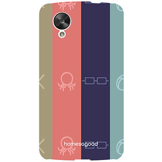 HomeSoGood Following The Pattern Multicolor 3D Mobile Case For LG Nexus 5 (Back Cover)