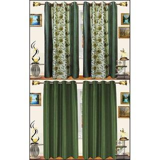 shiv shankar handloom set of 4 Long Door Curtains (9X4 Feet)