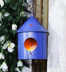 Bird House Round Blue