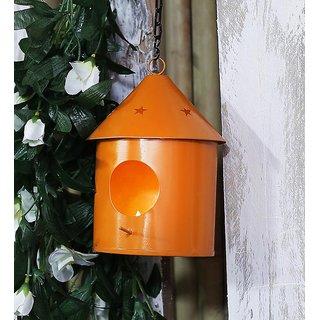 Bird House Round Orange