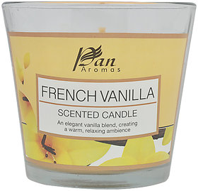 CANDLE-Conical Glass With Pvc Lid - French Vanilla