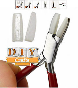 DIY Crafts FLAT NYLON JAWS PLIERS FLAT NOSE BEAD WIRE WORK JEWELRY TOOL W/ EXTRA