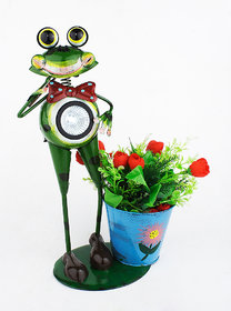 Solar Frog Planter