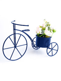 Blue Metal Cycle Planter