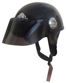 O2 Mini Cap Motorbike Helmet - M(Black)