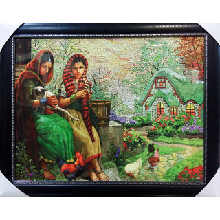 culture painting photo frame