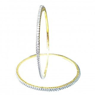 Midas American Diamond Gold Plated Bangles