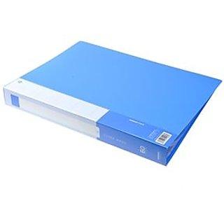 Practical A4 60-pages Plastic Cover File Folder Document Folder (Blue)