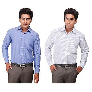 D&Y Premium Quality Formal Shirts (SH-123) - Pack Of 2