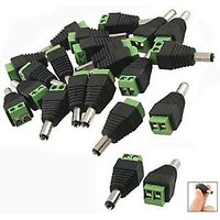 10x DC Power Male Jack Connector Plugs For CCTV Camera DVR 10x DC Power Male Jac