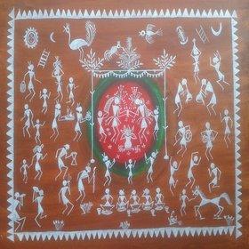 Warli Painting 15x19 Incha