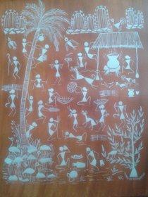 Warli Painting 15x19 inch