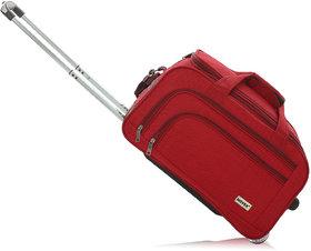 Novex Solo 56 Cms Red 2 Wheel Duffle Trolley Bag