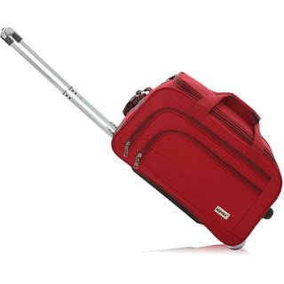 Novex Solo 56 Cms Red 2 Wheel Duffle Trolley Bag