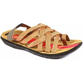 Stylos Tan Slip-On Floater Sandals