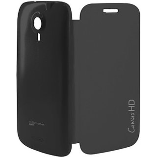 New Micromax Flip Cover For A116  -Black.