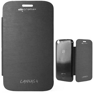 New Micromax Flip Cover For A210 - Black.